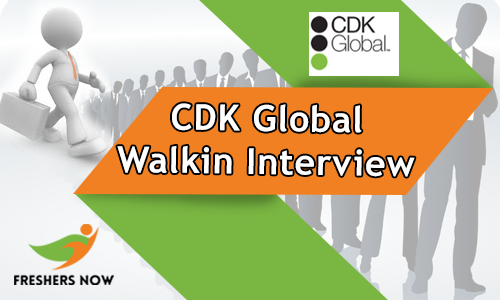 CDK Global Walkin Interview