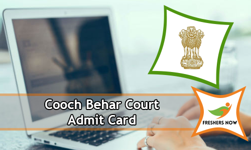 Cooch Behar Court Admit Card