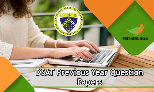 DSAT Previous Year Question Papers