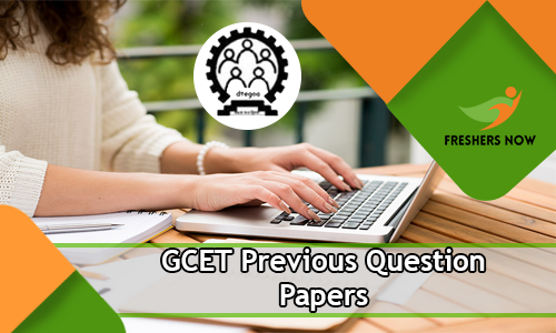 GCET Previous Question Papers