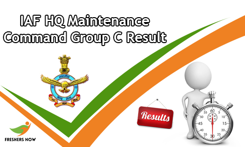 IAF HQ Maintenance Command Group C Result