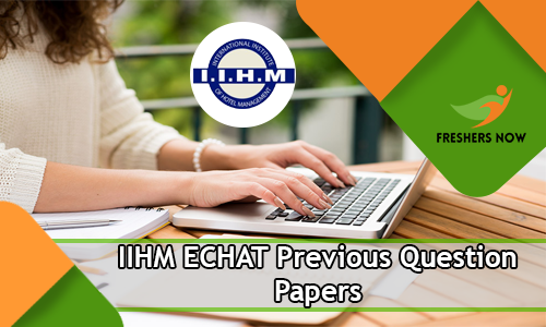 IIHM ECHAT Previous Question Papers