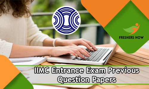 IIMC Entrance Exam Previous Question Papers