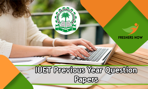 IUET Previous Year Question Papers