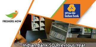 Indian Bank SO Previous Year Question Papers