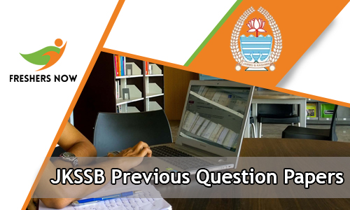 JKSSB Previous Question Papers