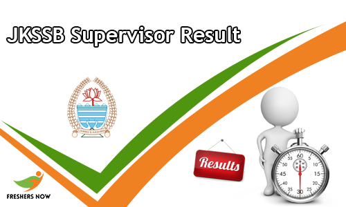JKSSB Supervisor Result
