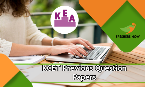 KCET Previous Question Papers