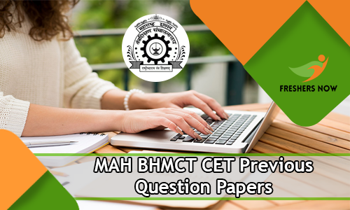 MAH BHMCT CET Previous Question Papers