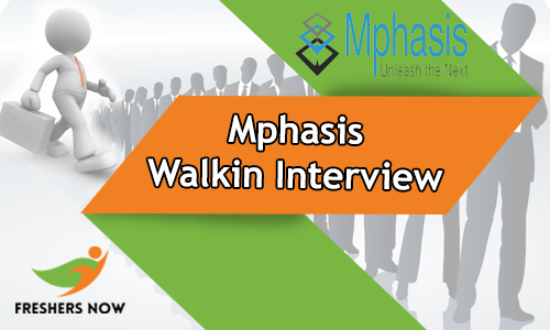 Mphasis Walkin Interview