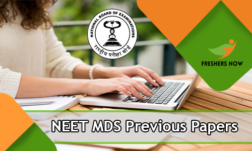 NEET MDS Previous Papers