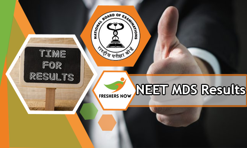 NEET MDS Results