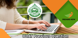 OUAT Previous Question Papers