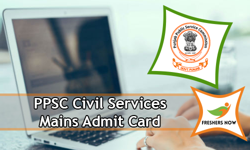 PPSC Civil Services Mains Admit Card