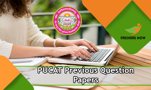 PUCAT Previous Question Papers