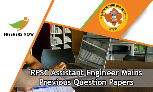 RPSC Assistant Engineer Mains Previous Question Papers