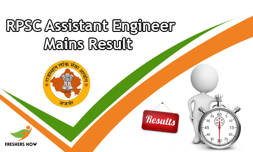 RPSC Assistant Engineer Mains Result