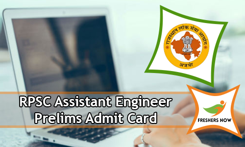 RPSC Assistant Engineer Prelims Admit Card