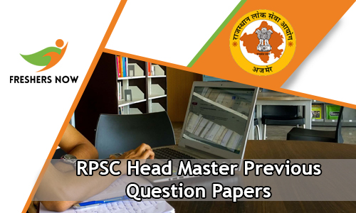 RPSC Head Master Previous Question Papers