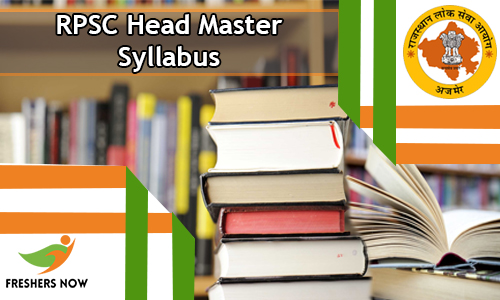 RPSC Head Master Syllabus