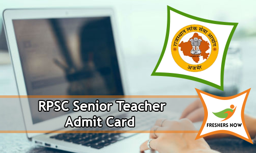 RPSC Senior Teacher Admit Card