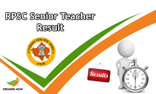 RPSC Senior Teacher Result