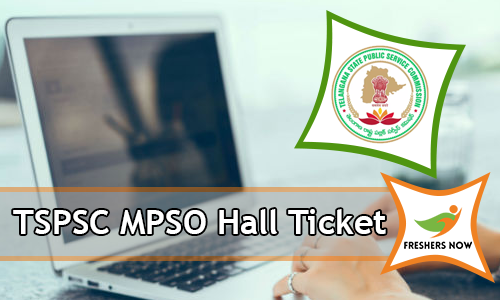 TSPSC MPSO Hall Ticket