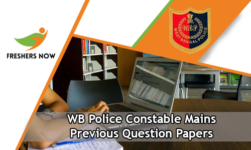 WB Police Constable Mains Previous Question Papers