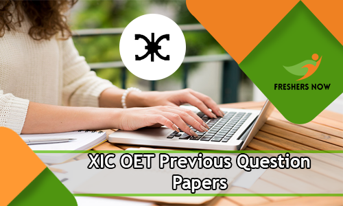 XIC OET Previous Question Papers