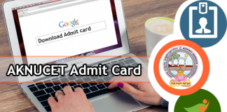AKNUCET Admit Card