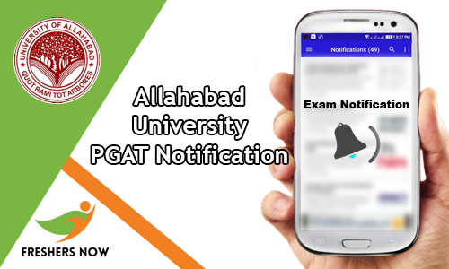 Allahabad University PGAT Notification