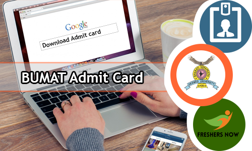 BUMAT Admit Card