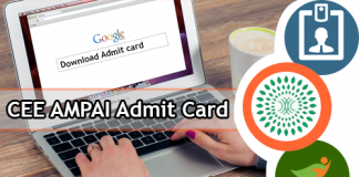 CEE AMPAI Admit Card