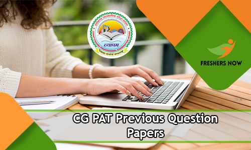 CG PAT Previous Question Papers PDF Download - Chhattisgarh