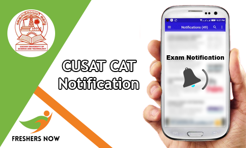 CUSAT CAT Notification