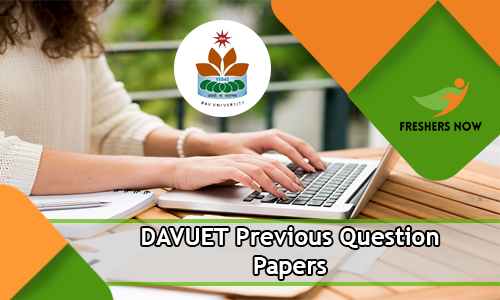 DAVUET Previous Question Papers