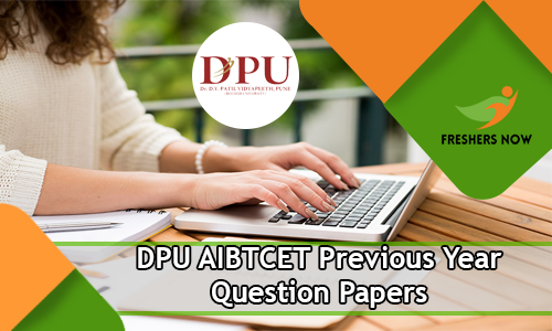 DPU AIBTCET Previous Year Question Papers