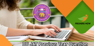 DU JAT Previous Year Question Papers