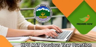 HPU MAT Previous Year Question Papers