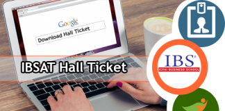 IBSAT Hall Ticket