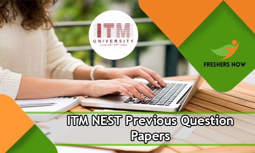 ITM NEST Previous Question Papers