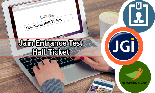 Jain Entrance Test Hall Ticket