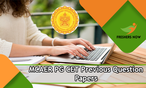 MCAER PG CET Previous Question Papers