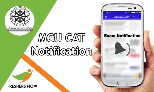 MGU CAT Notification
