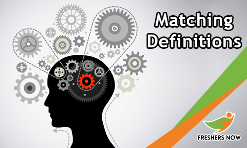 Matching Definitions