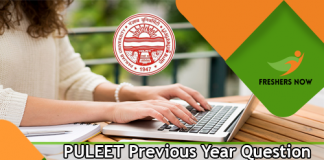 PULEET Previous Year Question Papers