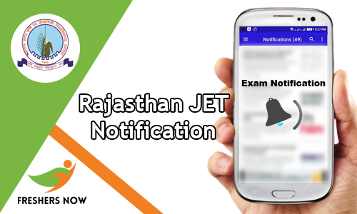 Rajasthan JET Notification