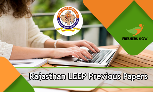 Rajasthan LEEP Previous Papers