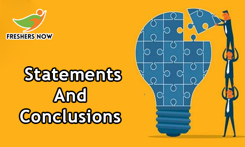 Statements and Conclusions