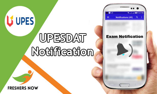 UPESDAT Notification